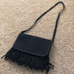 Cato Fringe Suede Crossbody Purse